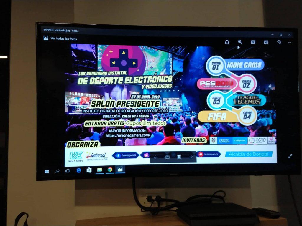 Un abrebocas de lo que será el 1er seminario distrital de deporte electrónico y videojuegos.
